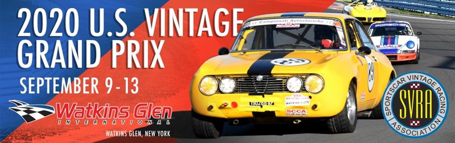2020 U.S. Vintage Grand Prix - September 9-13 - Watkins Glen International - Watkins Glen, NY - SVRA